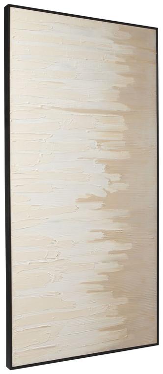 Jennaya Wall Art   Tan/White   A8000293