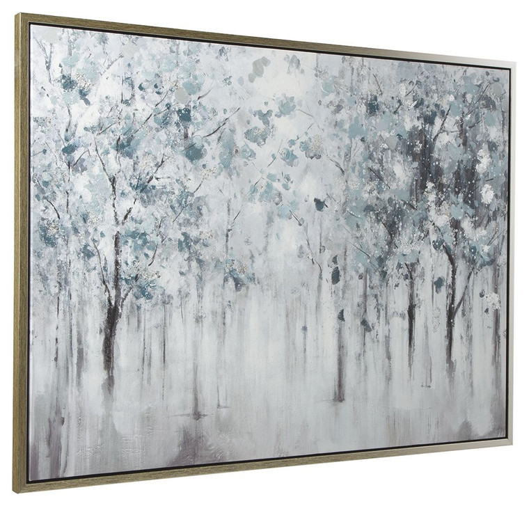 Breckin Wall Art | Blue/Gray/White | A8000286