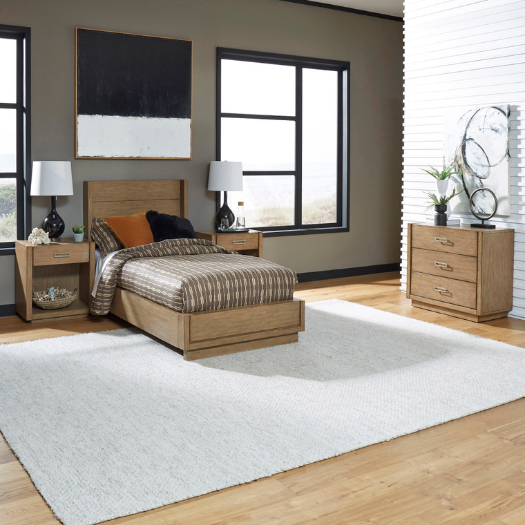 Montecito Twin Bed, Two Nightstands and Chest | 5506-4021