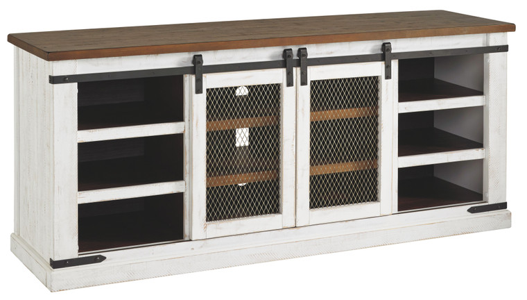 Wystfield Extra Large TV Stand | White/Brown | W549-68