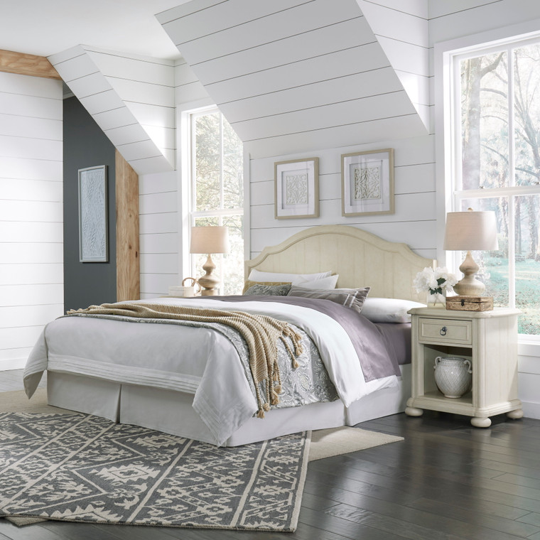 Chambre King Headboard and Two Nightstands   5502-6015
