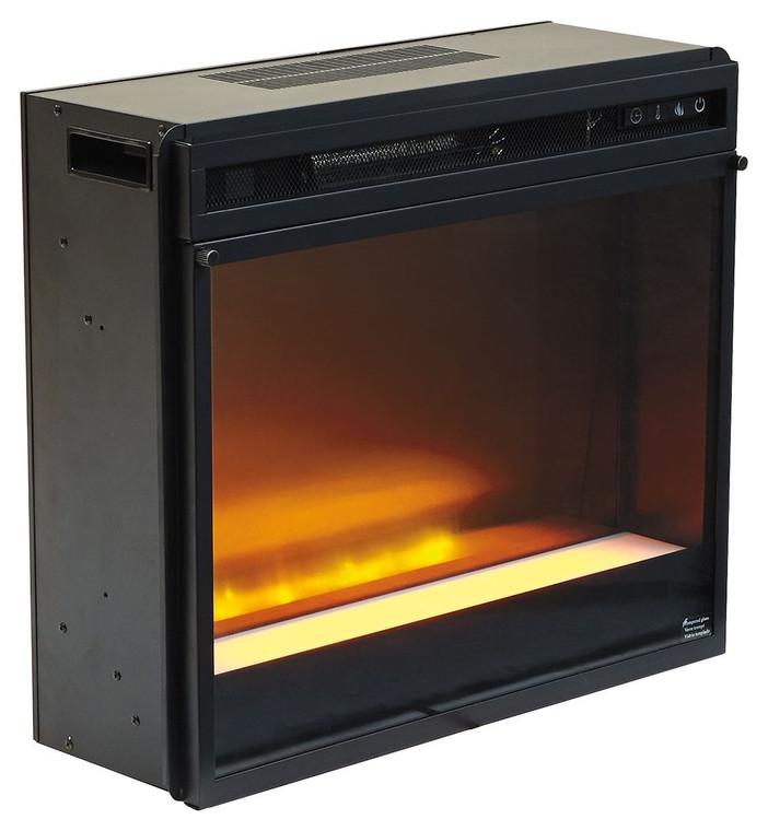 Entertainment Accessories Fireplace Insert Glass/Stone | Black | W100-02