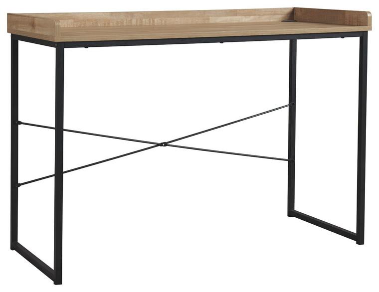 Gerdanet Home Office Desk | Light Brown/Black | H320-10