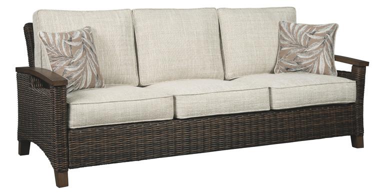 Paradise Trail Sofa with Cushion | Medium Brown | P750-838