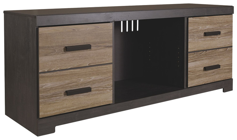 Harlinton LG TV Stand w/Fireplace Option | Warm Gray | EW0325-168