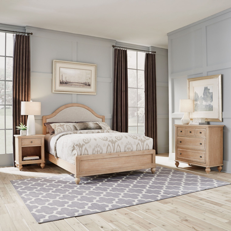 Claire Queen Bed, Nightstand and Chest | 5170-5021