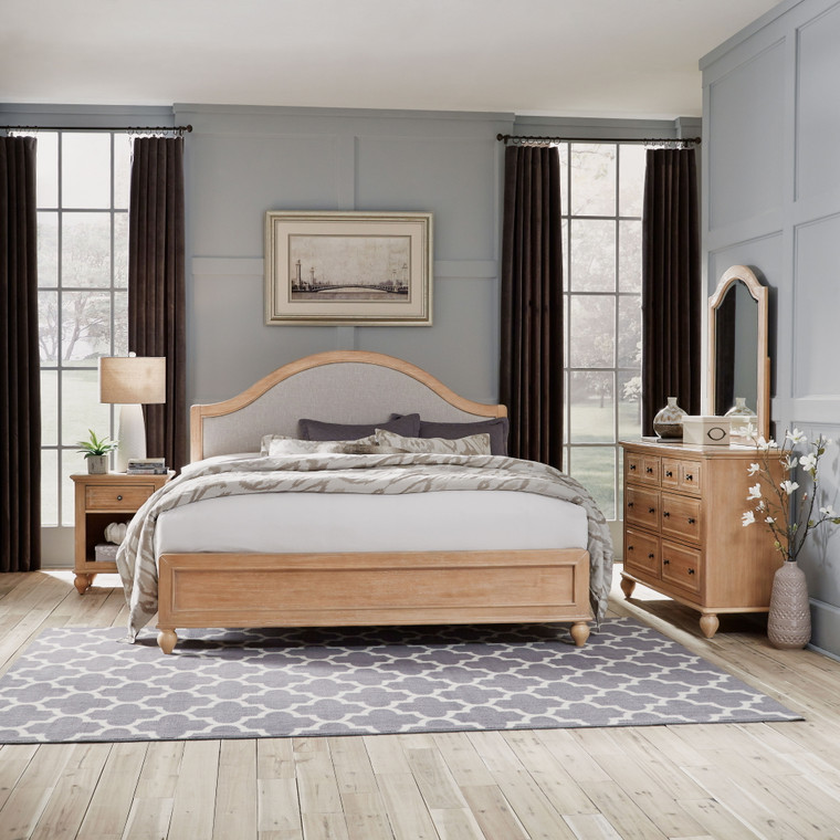 Claire King Bed, Nightstand and Dresser with Mirror | 5170-6023