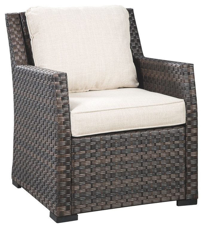 Easy Isle Lounge Chair w/Cushion | Dark Brown/Beige | P455-820