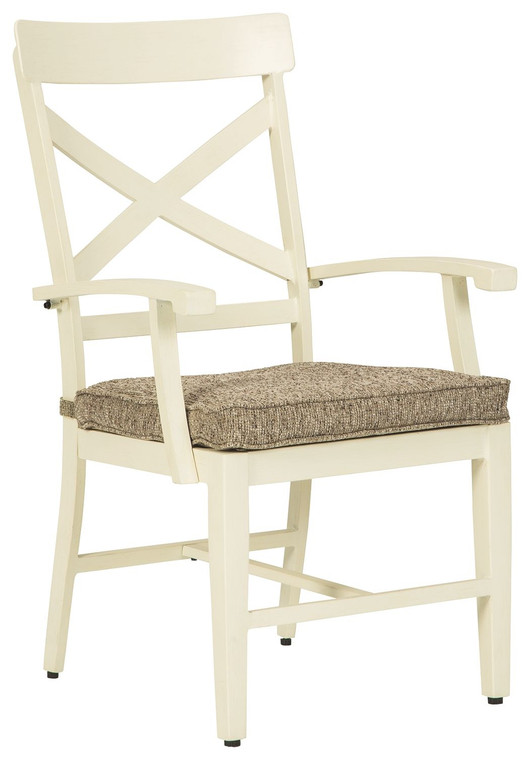 Preston Bay Arm Chair with Cushion (Set of 2) | Antique White | P460-601A