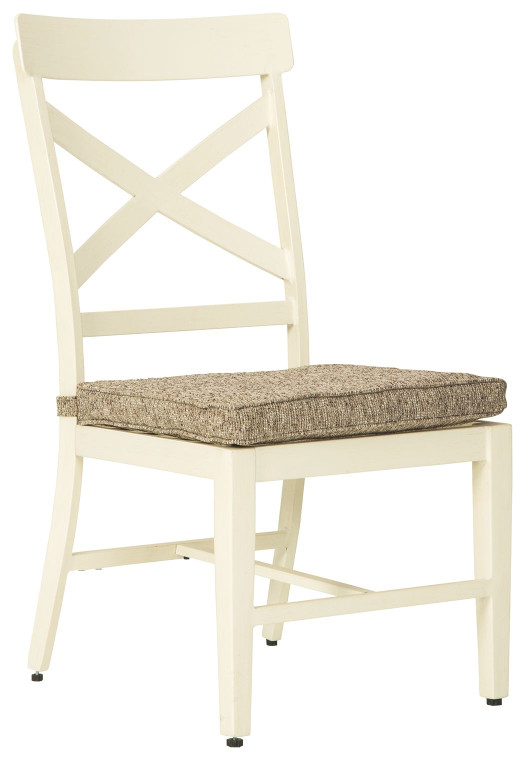 Preston Bay Chair with Cushion (Set of 2) | Antique White | P460-601