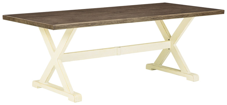 Preston Bay RECT Dining Table w/UMB OPT | Antique White | P460-625