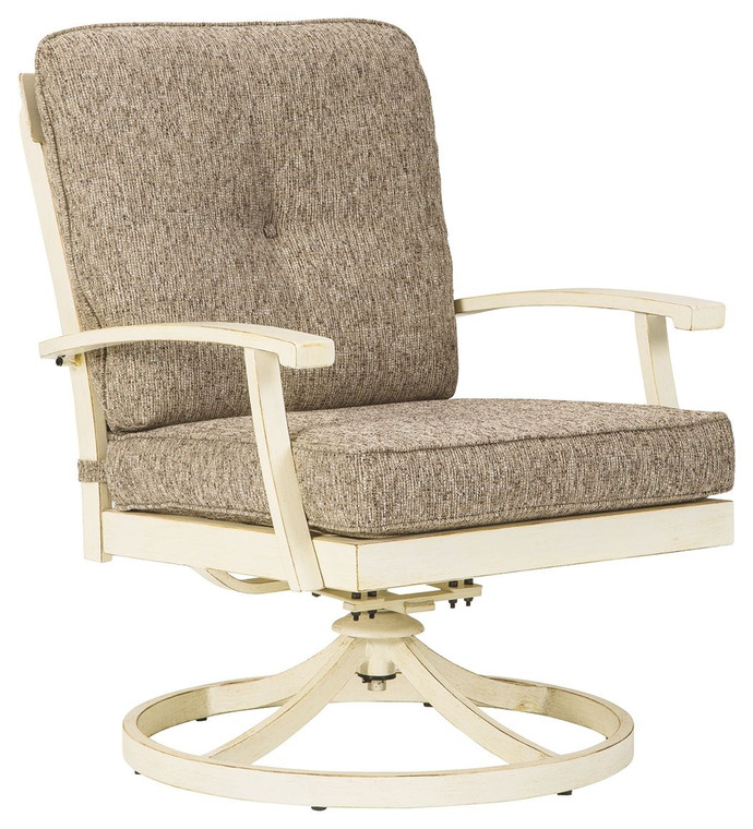 Preston Bay Swivel Lounge with Cushion (Set of 2) | Antique White | P460-821