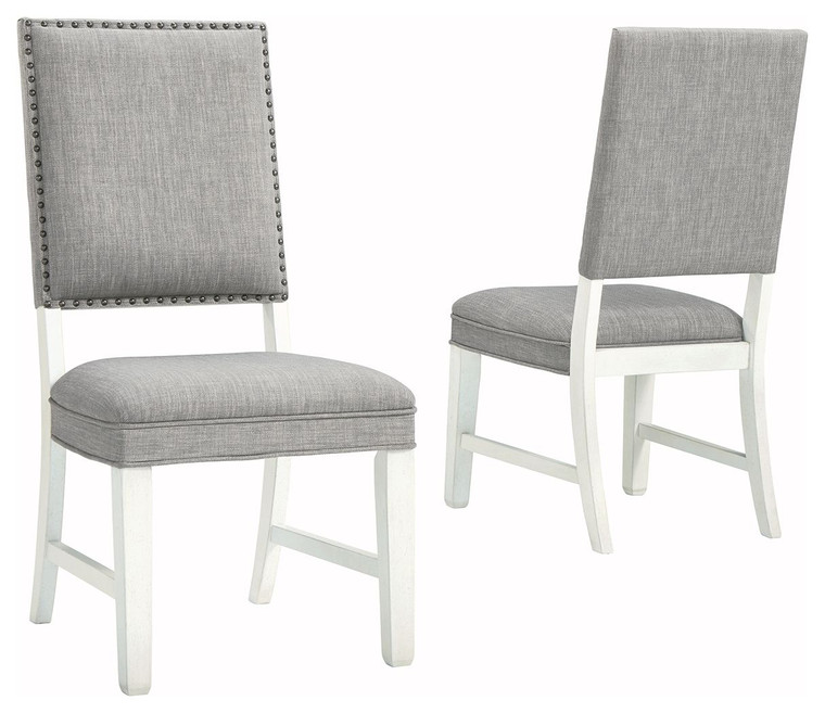 Nashbryn Dining Side Chair (Set of 2) | Gray/White | D763-02