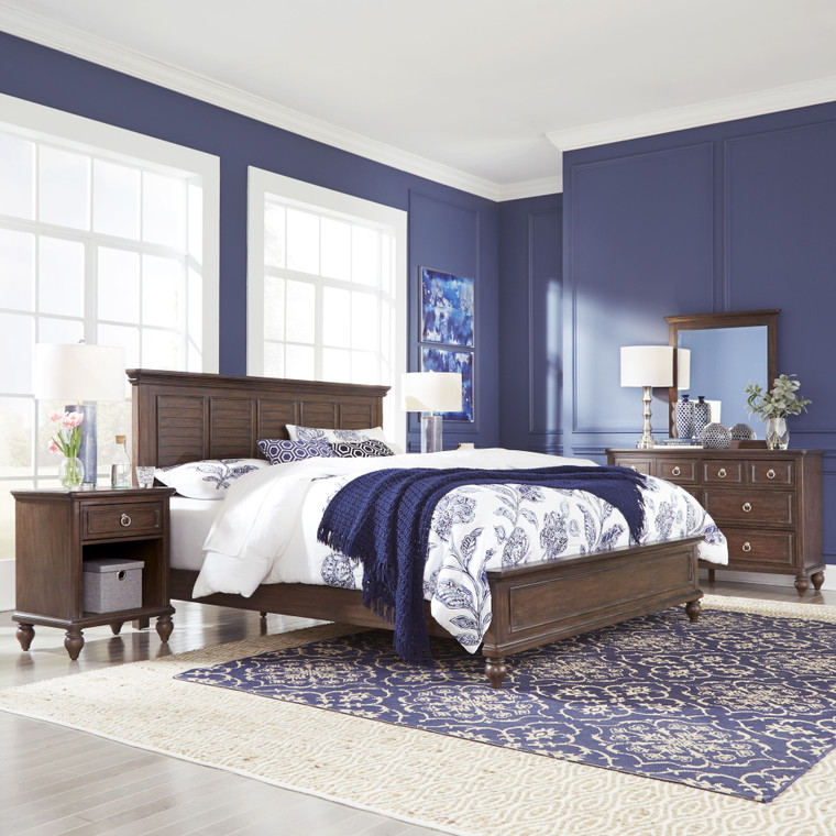Marie King Bed, Nightstand and Dresser with Mirror | 5503-6022