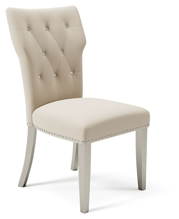 Chevanna Dining Side Chair (Set of 2)   Cream   D744-01
