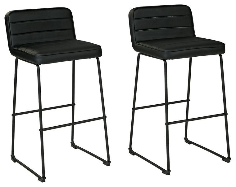 Nerison Tall Barstool (Set of 2)   Black   D225-130