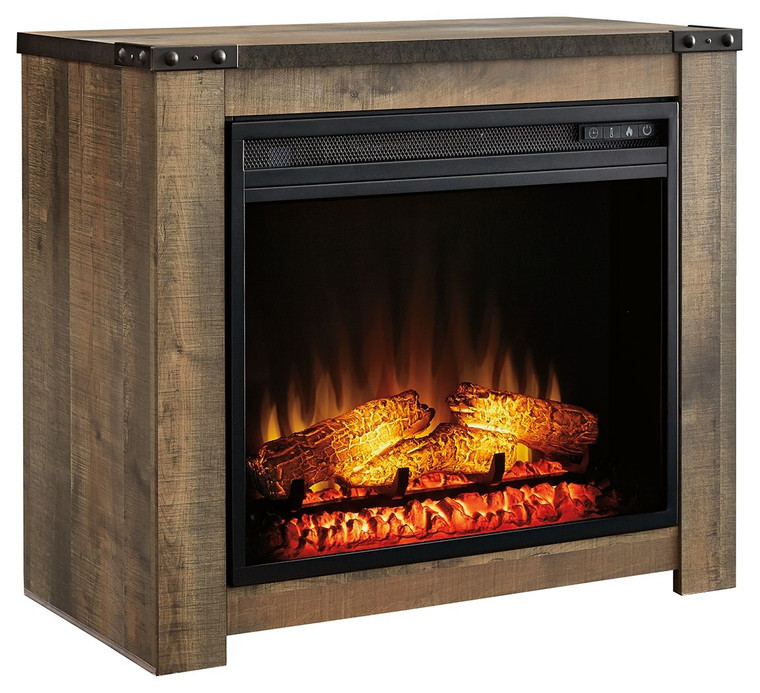 Trinell Fireplace Mantel w/FRPL Insert   Brown   W446-368