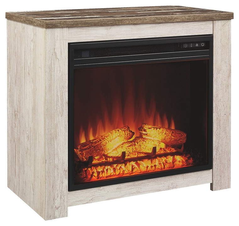 Willowton Fireplace Mantel w/FRPL Insert | Whitewash | W267-368