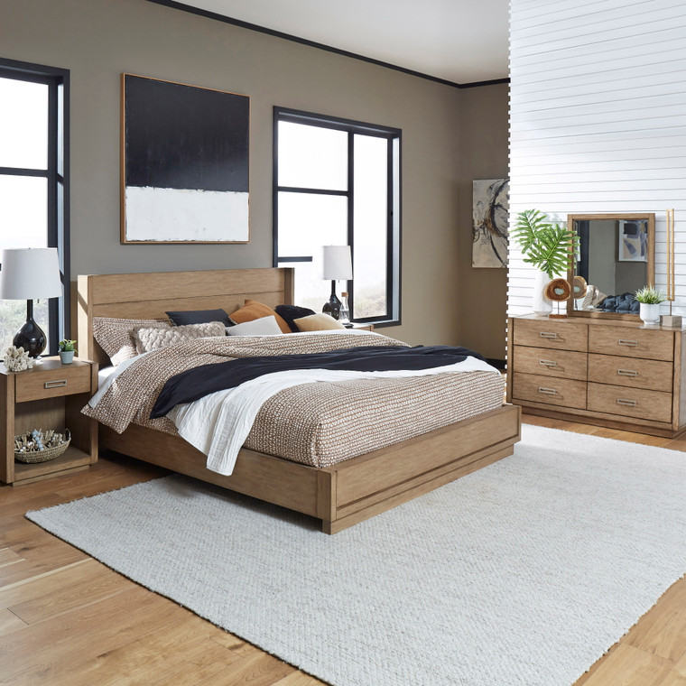 Montecito King Bed, Two Nightstands and Dresser with Mirror | 5506-6022