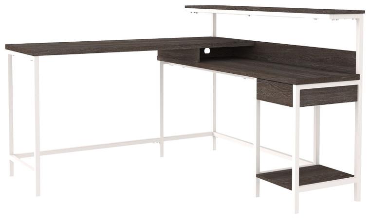 Dorrinson Desk with Storage | Two-Tone | H287-24