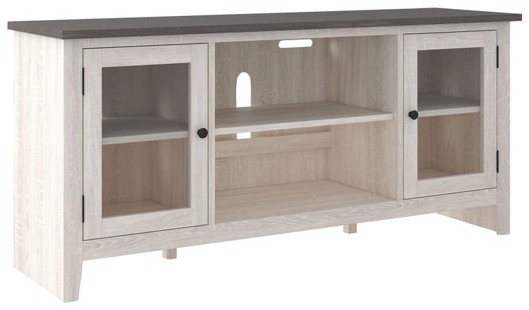 Dorrinson LG TV Stand w/Fireplace Option   Two-Tone   W287-68