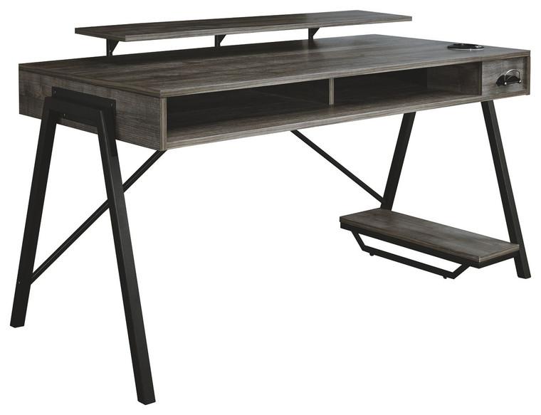 Barolli Gaming Desk | Gunmetal | H700-28