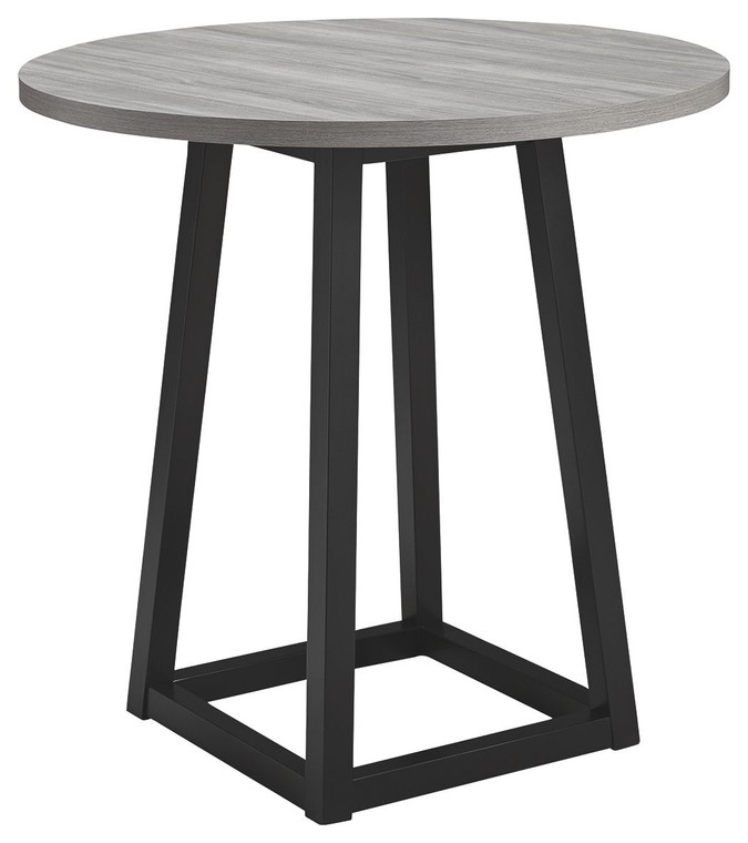 Showdell Round DRM Counter Table   Gray/Black   D205-13