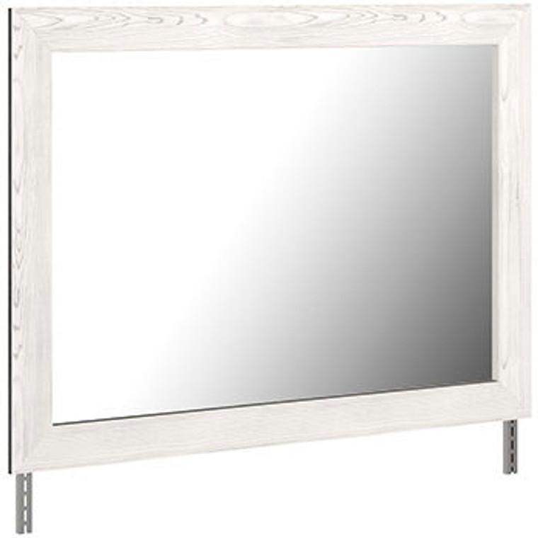 Gerridan - White/Gray - Bedroom Mirror