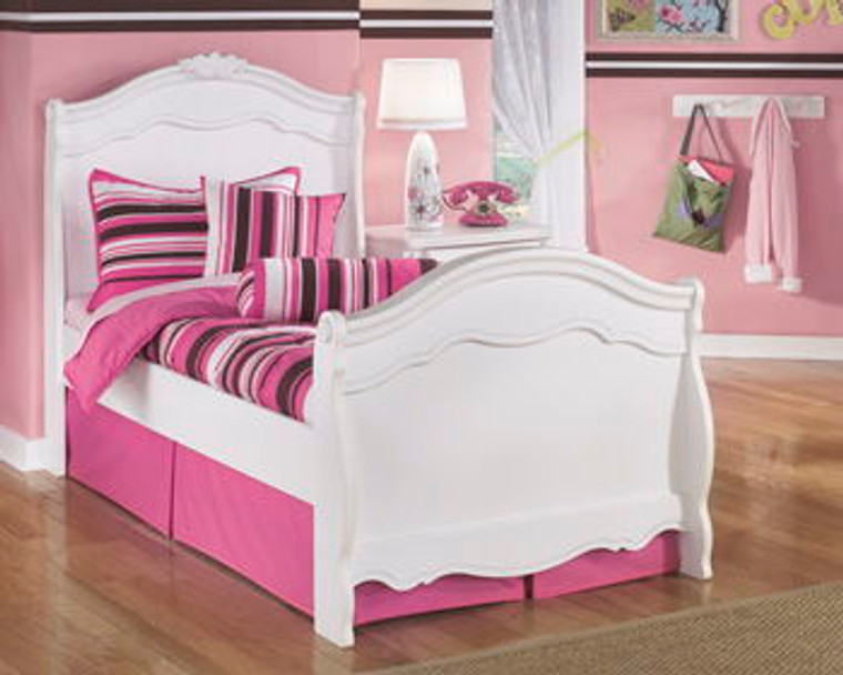 Exquisite Twin Sleigh Footboard   White   B188-62N
