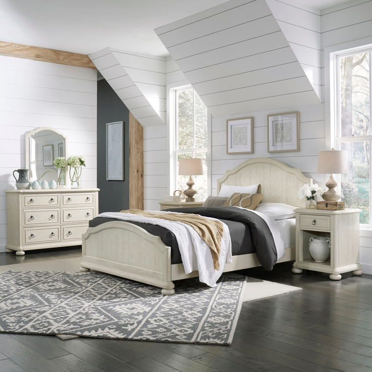 Chambre Queen Bed, Nightstand and Dresser with Mirror | 5502-5022