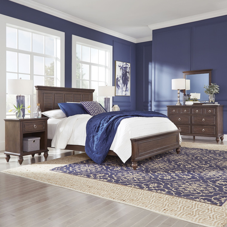 Marie Queen Bed, Nightstand and Dresser with Mirror | 5503-5022