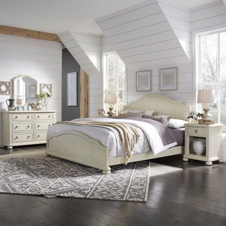 Chambre King Bed, Nightstand and Dresser with Mirror | 5502-6022