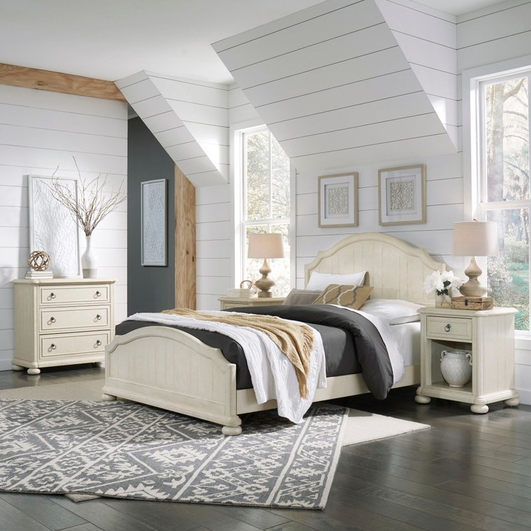 Chambre Queen Bed, Nightstand and Chest | 5502-5021