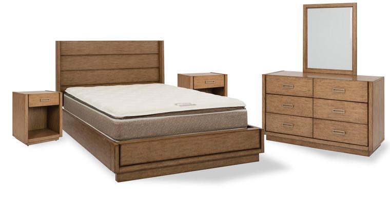 Montecito Queen Bed, Two Nightstands and Dresser with Mirror | 5506-5022