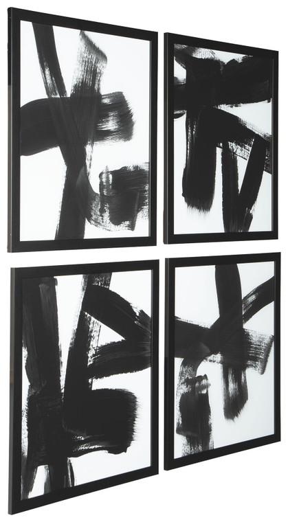 Doro Wall Art (Set of 4) | Black/White | A8000305