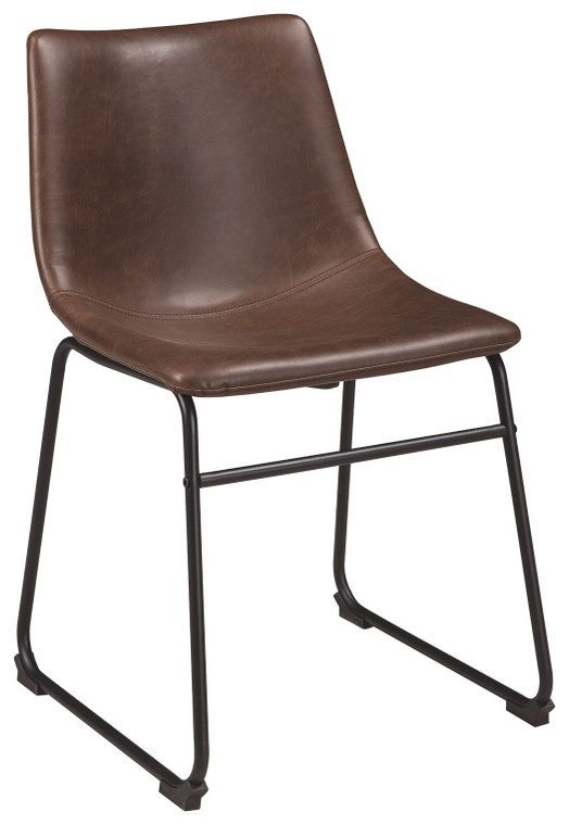 Centiar Dining Side Chair | Brown/Black | D372-01S