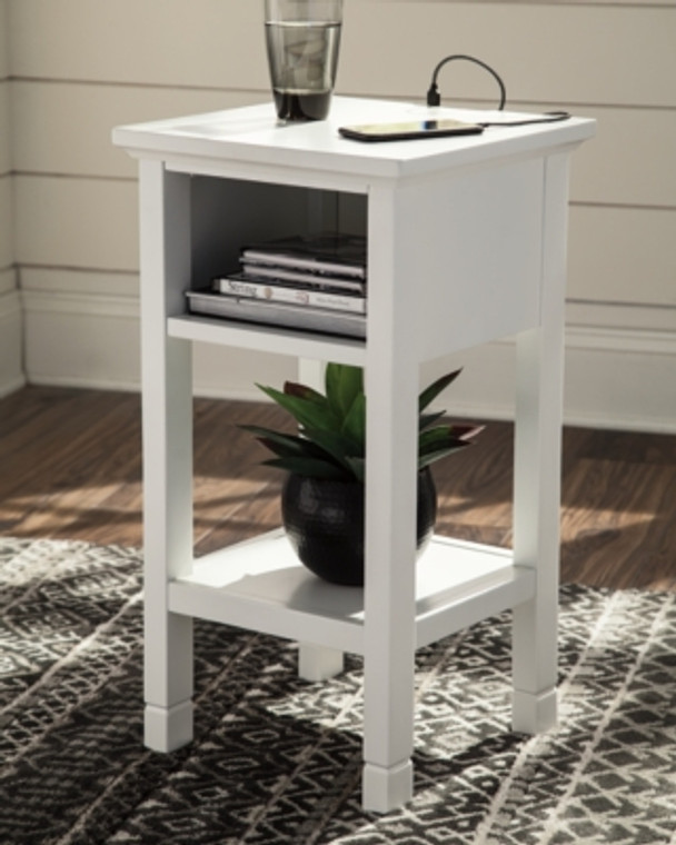 Marnville Accent Table | White | A4000090