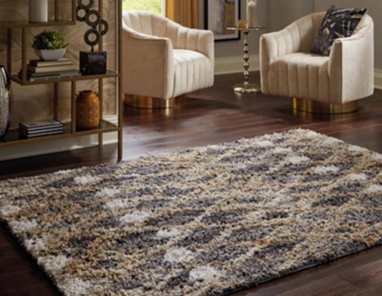 Vinmore Large Rug | Tan/Gray/White | R402051
