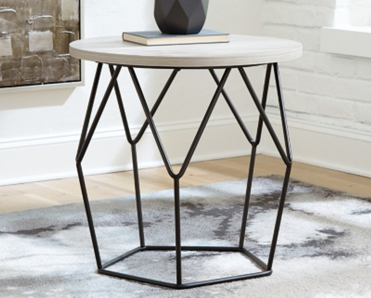 Waylowe End Table | Light Brown/Black | T274-6
