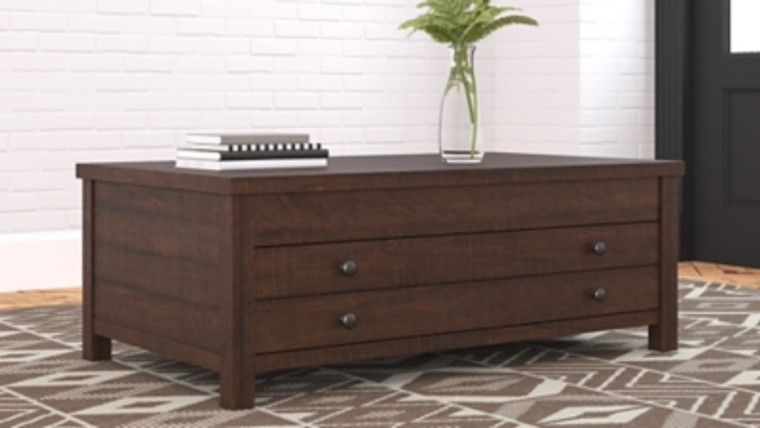 Camiburg Coffee Table with Lift Top   Warm Brown   T283-9