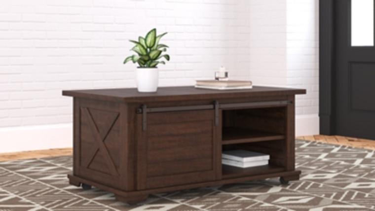 Camiburg Coffee Table   Warm Brown   T283-1