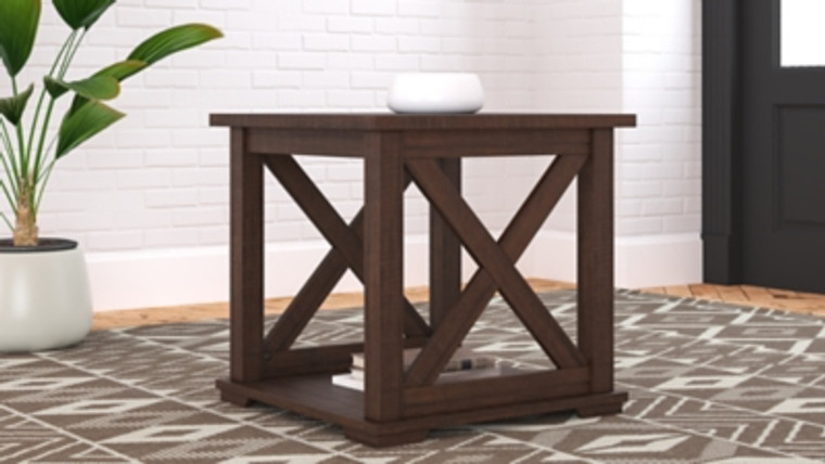 Camiburg End Table | Warm Brown | T283-2