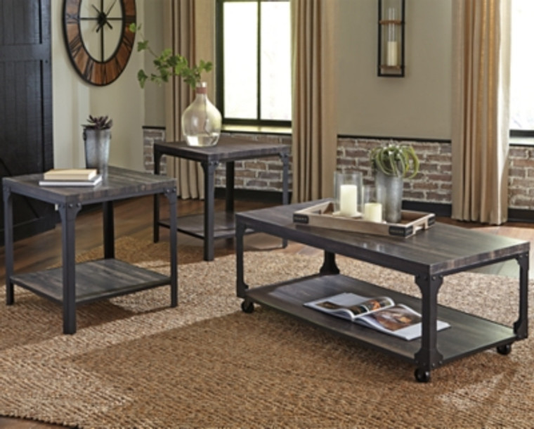 Jandoree Table (Set of 3) | Brown/Black | T108-13
