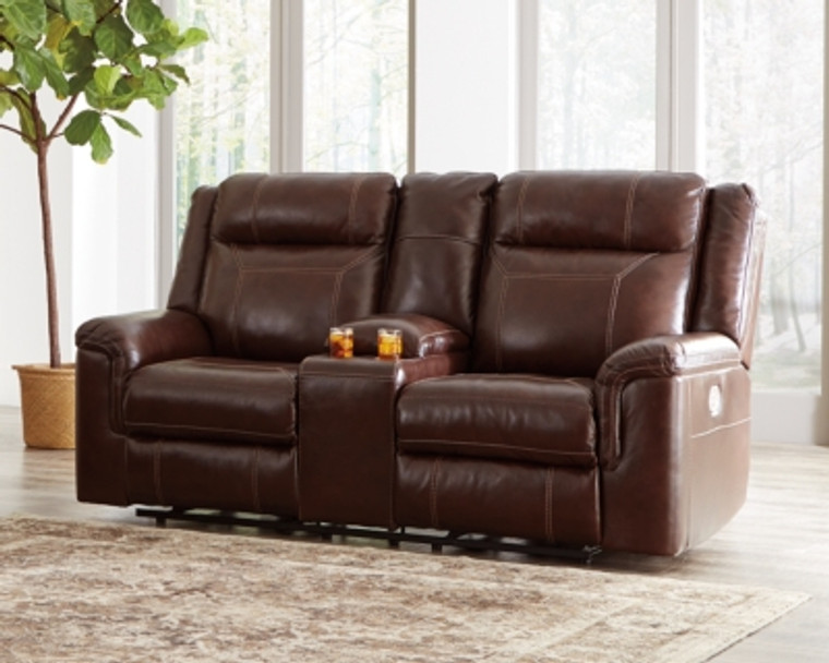 Wyline Power Reclining Loveseat with Console | Coffee | 7170118