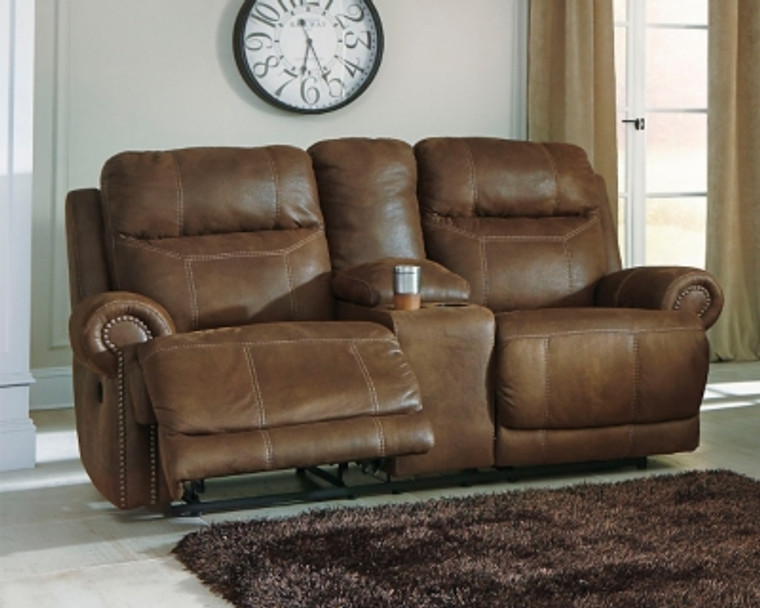 Austere Power Reclining Loveseat with Console | Brown | 3840096