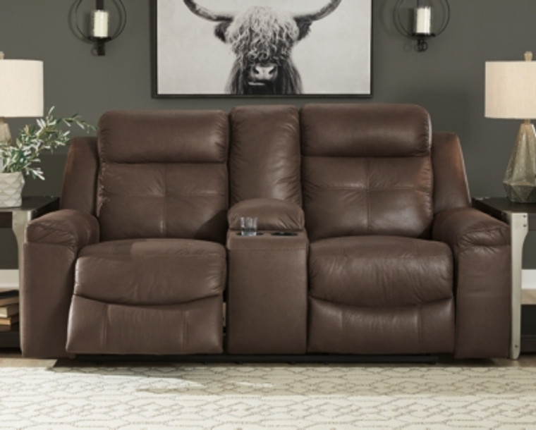 Jesolo Reclining Loveseat with Console | Coffee | 8670494
