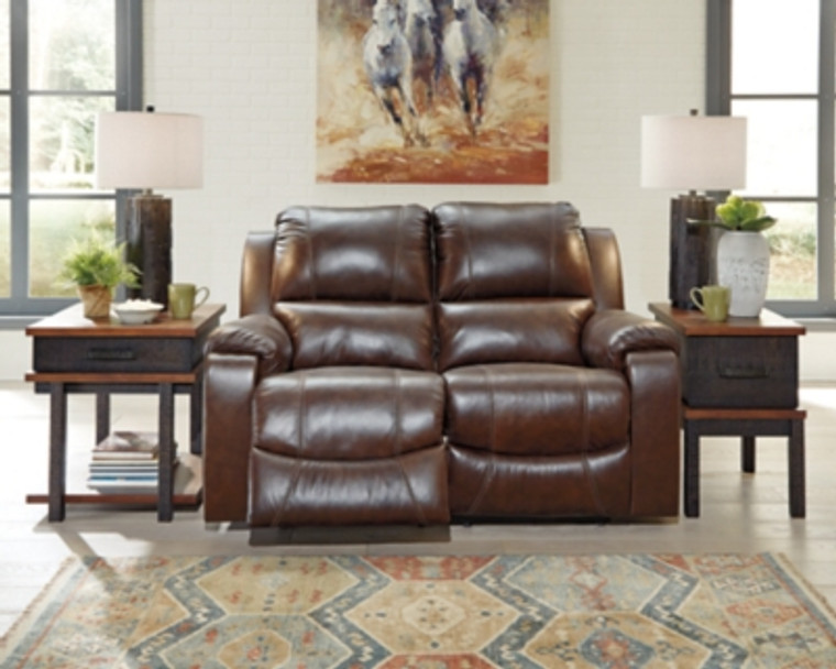 Rackingburg Reclining Loveseat | Mahogany | U3330186