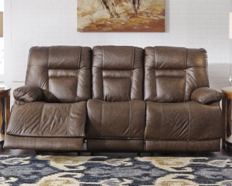 Wurstrow Power Reclining Sofa | Umber | U5460315
