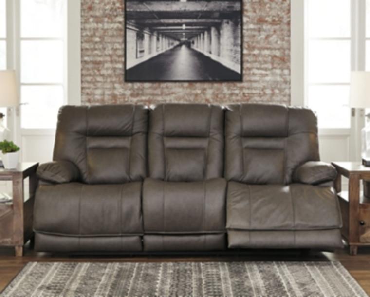 Wurstrow Power Reclining Sofa   Smoke   U5460215