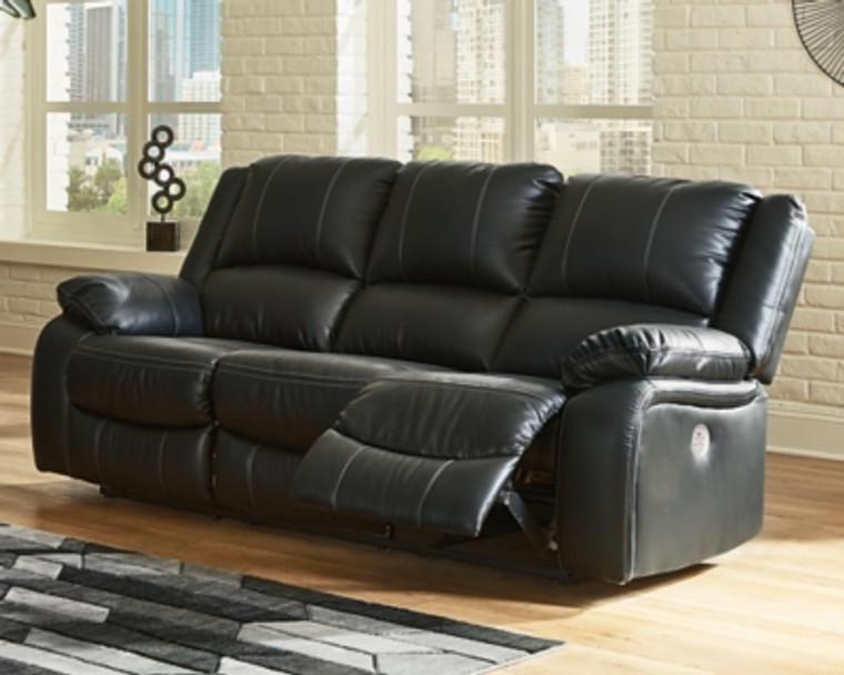 Calderwell Power Reclining Sofa | Black | 7710187